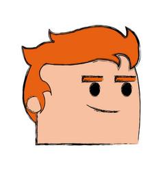 Office worker face cool business man cartoon vector