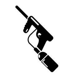 Paintball gun charging icon simple style vector