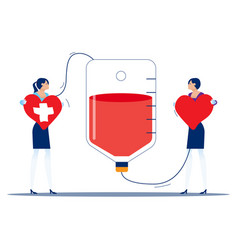 people make blood donations and receive donations vector image