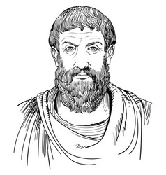 Philosopher epicurus vector