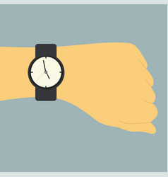 picture of a human hand with watch vector image
