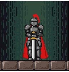 Pixel knight vector