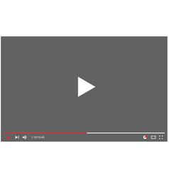 Profile page youtube video plaer blogger vector