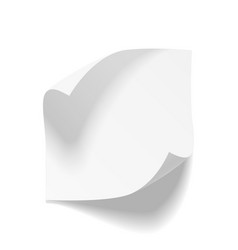 Realistic empty bend paper Sheet vector image