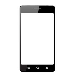 realistic smartphone with white touch screen vector image