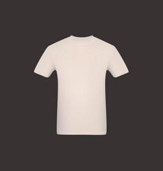 realistic white mesh tshirt vector image