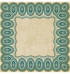 Retro border pattern old background vector