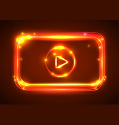 Round light video player frame shining vector