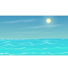 sea panorama vector image