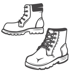 Set boots icons isolated on white vector