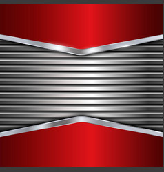 Silver and red metallic background vector