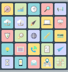 Simple flat design icons vector