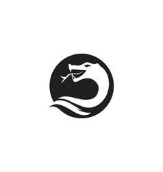 Snake icon design vector