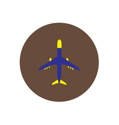 Stylish icon in color circle travel airplane vector