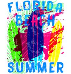 Summer typography tee graphic vector