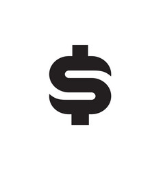 symbol of dollar money with black color vector image