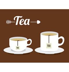 Tea design vector image