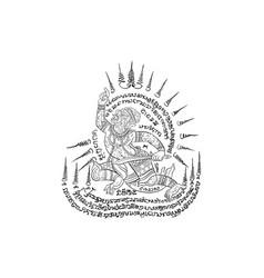 Thai traditional tattoo vector