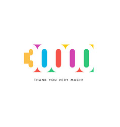 thirty thousand subscribers baner colorful logo vector image