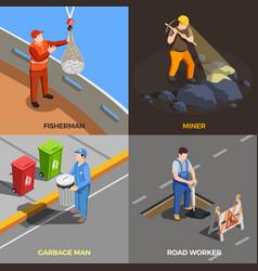 urban professions design concept vector image