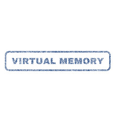 virtual memory textile stamp vector image