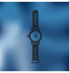 Watch icon on blurred background vector