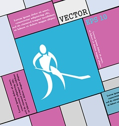 Winter sport Hockey icon sign Modern flat style vector image