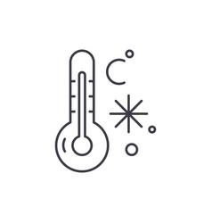 winter temperature line icon concept winter vector image
