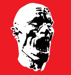 Zombie screams head vector