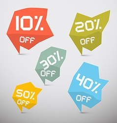 Discount Sale Tags Set vector image vector image
