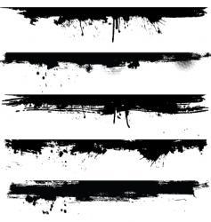grunge borders vector image vector image