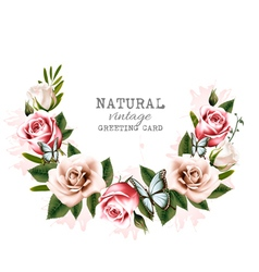 Holiday background with beauty flowers and vector image vector image