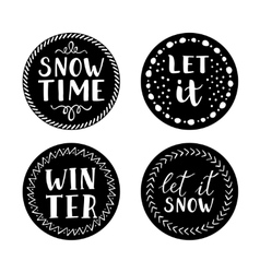 Let it snow Christmas Icons vector image vector image