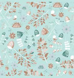 light cozy summer seamless pattern leaves birds vector image vector image