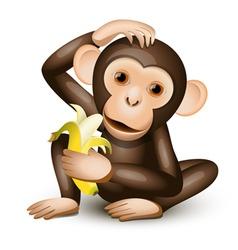 little monkey vector image vector image