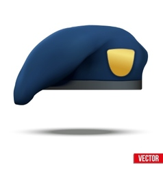 Military Blue Beret NAVY Special Forces vector image
