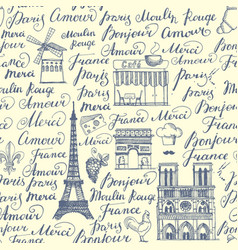 paris sketches collection vector image vector image