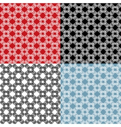 Set of geometric ornaments - seamless patterns - vector image vector image