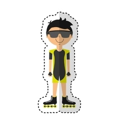 skater avatar character icon vector image vector image