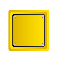 square emblem notice in blank vector image