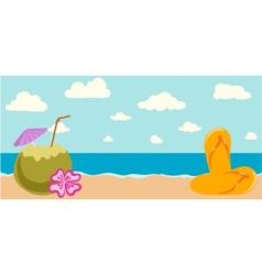 Summer tropical banner vector image
