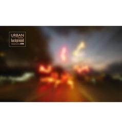 Abstract urban night scene background vector
