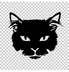 black cat silhouette tattoo vector image