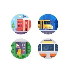 Education school icons vector