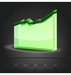 Graph Line Chart icon vector image vector image