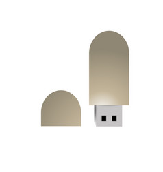 isolated usb design vector image