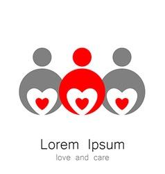 logo template love care vector image