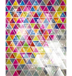 background with triangle pattern vector image vector image