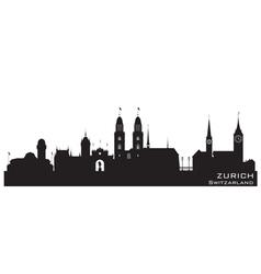 Zurich Switzerland skyline Detailed silhouette vector image vector image
