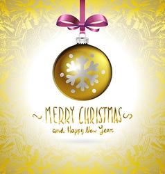 Golden realistic Christmas balls vector image
